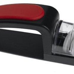 Minosharp 440/Br Ceramic Wheel Water Sharpener Plus, Black/Red