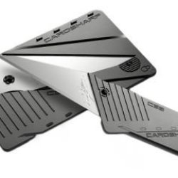 Iain Sinclair Design Cardsharp3 Credit Card Folding Utility Safety Knife With Silver Blade