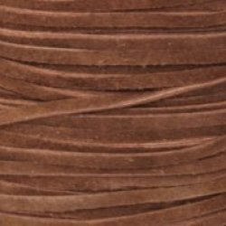 "Red Brown Split Suede Lace 3Mm (1/8"") X 50M (54.68Yds)"