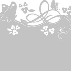 Privacy Film / Window Tattoo / Window Sticker/ For Girls / With Butterfly And Flower Design - 90X57Cm