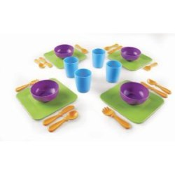 Learning Resources New Sprouts Serve It My Very Own Dish Set With Mini Tool Box (Cog)