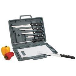 Maxam Knife Set With Cutting Board Chef/Slicer/Boning/Utility Knife/Paring Knifes Gift Boxed
