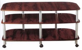 Image of VTI AR Series 41 inch Wide Audio Video Rack TV Stand AR503C (Cherry) (AR503C)