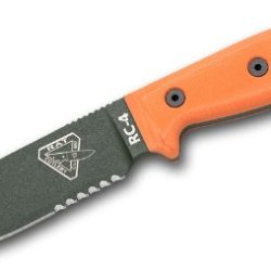 Esee 4 Tactical Knife Combo Olive Drab Blade Orange G-10 Handles 4S-Od
