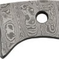 "Knife Blanks Dm2719 7"" Overall Damascus Drop Point Hunter Knife Blade"