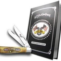 Case Xx Civil War Book Set Volume 6 The Battle Of Fredericksburg Stag Mini Trapper Pocket Knives