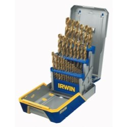29Pc Drill Bit Industrial Set Case; Tin Coated