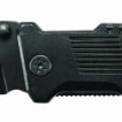 Smith & Wesson Swbg2Ts Border Guard 2 Rescue Knife With 40% Serrated Tanto Blade, Glass Break, And Seatbelt Cutter, Black