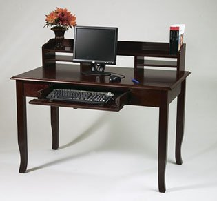 Picture of Comfortable Merlot Computer Desk And Hutch (B000MOQHUG) (Computer Desks)