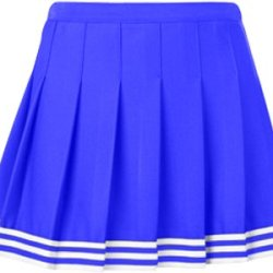 "Teamwork Girl'S Poise Pleated Cheerleader Skirts 23-24""W Royal/White/Royal"