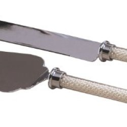 Ivy Lane Design Stainless Steel Cake Knife And Server Set With Pearl Handles