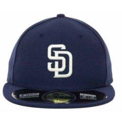 San Diego Padres Mlb Authentic Baseball Cap 7-3/8 Osfa - Like New