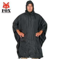 Fox Rip Stop Poncho Black