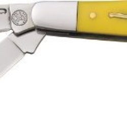 Frost Cutlery & Knives Wt112Y Whitetail Series - Kentucky Wrangler Stockman Pocket Knife With Yellow Synthetic Handles