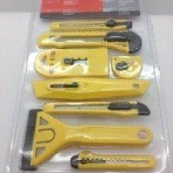 Safety Scraper & Carton Cutter (8 Pcs Set Yellow Color)