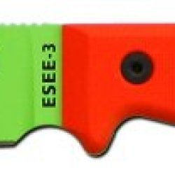 Esee 3Pm-Vg Venom Green Blade & Orange G-10 Handle Knife