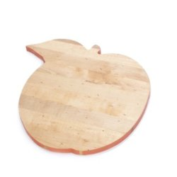 J.K. Adams Solid Maple Wood Fruit-Shaped Cutting Board, 15-Inches By 14-Inches, Peach