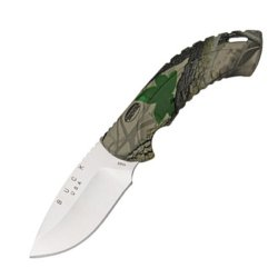 Buck 10 Point Realtree Hardwoods Green Hd Omni Avid Hunter Tm Knife (Camo, 3 1/4-Inch)