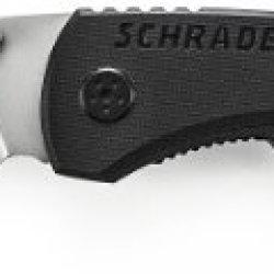 Schrade Sch101Ls Stainless Steel Drop-Point Folding Liner-Lock Pocket Knife, 3.0-Inch