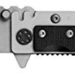 "Mantis Knives Mtf-4Tib ""Echo"" High Tech Folding Blades Knife, Silver/Black"