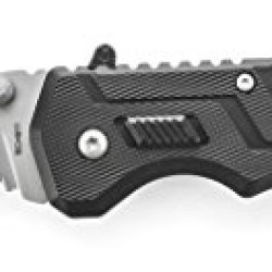Schrade Sch911 First Response Rescue Folding Knife Fully Serrated Belt Hook Blade, Stainless Steel