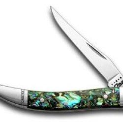 Case Xx Genuine Abalone Tiny Toothpick Pocket Knife Knives