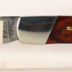 Bear & Son Pocket Knife With Custom Cherry Wood Guitar Inlay