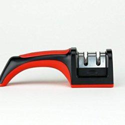 Annengjin® Taidea Two Stage Manual Kitchen Knife Sharpener, Coarse And Fine Sharpening Design, Black