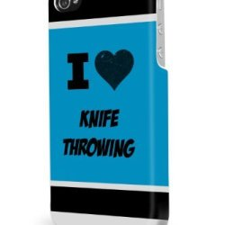Knife Throwing Blue Iphone 5/5S Case - For Iphone 5/5S - Designer Pc Case