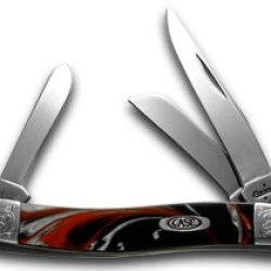 Case Xx Engraved Bolster Series Genuine Man Black Corleon Stockman Pocket Knife