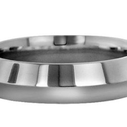 Wedding Bands; Platinum Knife Edge Wedding Bands Men`S And Women`S 5Mm Wide Comfort Fit