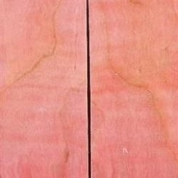 "Maple Curly Stabilized Pink 2 Pc Knife Scales 1/2"" X 1 1/2"" X 5"" 13"