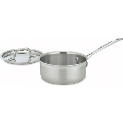 Cuisinart MCP19-16 MultiClad Pro Stainless-Steel 1-1/2-Quart Saucepan with Cover