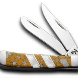 Case Xx Snow Leopard Mother Of Pearl Tiny Trapper 1/500 Pocket Knife Knives