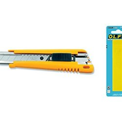 Olfa Heavy Duty Exl 18Mm Cutter With 10 Free Spare Blades