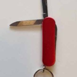 "Red 2.25"" 3 Tool Pocket Knife"