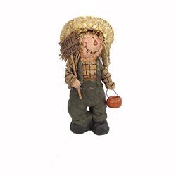 Craft Outlet Happy Harvest Scarecrow Figurine, 5 By 11-Inch