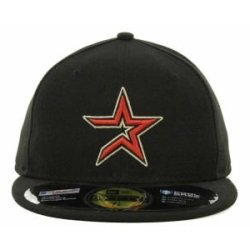 Houston Astros Mlb Authentic Baseball Cap 7-3/8 Osfa - Like New
