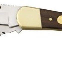 Puma 6169623W Warden Folding Knife With Saw Sbg Jacaranda Wood, Brown