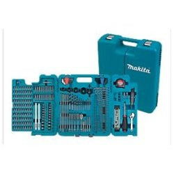 Makita 252 Piece Accessory Kit In Blow Moulded Case Screwdriver, Drillbits Great For Builders,Trade,Diy