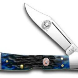Case Xx Blue Jigged Bone Eagle Boy Scout Mini Copperlock Pocket Knife Knives