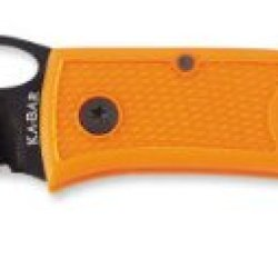 Ka-Bar Dozier Folding Hunter Thumb Notch Knife - Blaze Orange