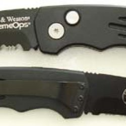 Smith & Wesson Sw50Bts Extreme Ops Serrated Tanto Knife, Black