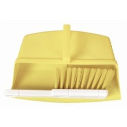 Jantex Colour Coded Brush Yellow. White Handle With Coloured Bristles. Pan Sold Separately.