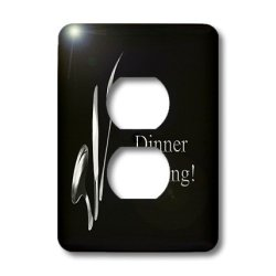 Lsp_43330_6 Beverly Turner Business Design - Dinner Meeting, Spoon Knife And Fork On Black, Business - Light Switch Covers - 2 Plug Outlet Cover