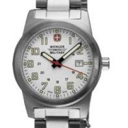 Wenger Swiss Military Women'S 72939 Classic Field White Dial Steel Bracelet Military Watch