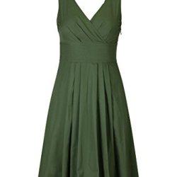 Eshakti Women'S Trapunto Trim Cotton Poplin Dress 1X-18W Regular Loden Green