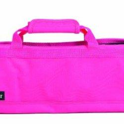 Messermeister 8-Pocket Padded Knife Roll, Pink