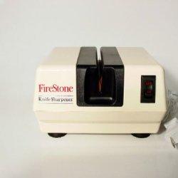 Mcgowan Firestone Electric Sharpener, White/Black