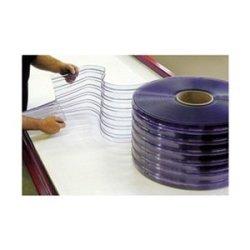 Vinyl Door Strips, Ribbed, W8In, 9Strips